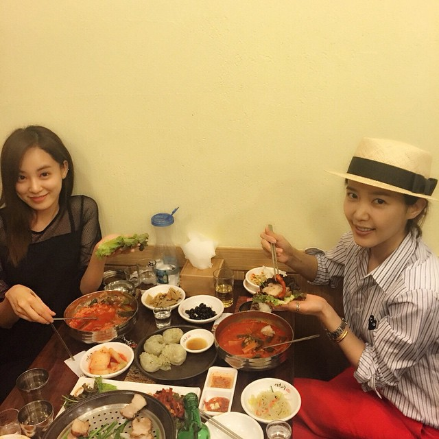 Chae Jung-an Lee Joo-yeon Korean meal