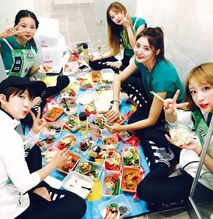 EXID fans lunch boxes